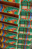 Buddhist temple roof painting Royalty Free Stock Photography