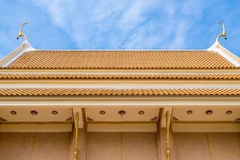 Buddhist temple roof. In Thailand stock photo