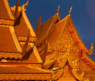 Buddhist Temple Roofs Royalty Free Stock Photography