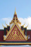 Buddhist Temple Rooftop and Spire Royalty Free Stock Photo