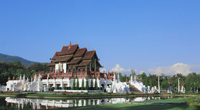 Buddhist temple in Royal Flora Ratchaphruek park Stock Image