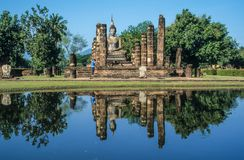 Buddhist temple ruin Stock Image