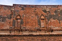 Buddhist temple ruins Royalty Free Stock Photography