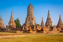 Buddhist temple ruins Royalty Free Stock Photo