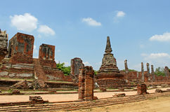 Buddhist temple ruins of Wat Mahathat Stock Photography