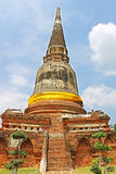 Buddhist temple ruins of Wat Mahathat Royalty Free Stock Images