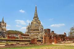 Buddhist temple ruins of Wat Mahathat Stock Images