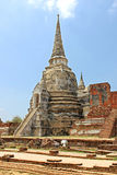 Buddhist temple ruins of Wat Mahathat Royalty Free Stock Photos