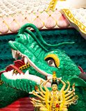 Buddhist temple sculpture of dragon Royalty Free Stock Photo