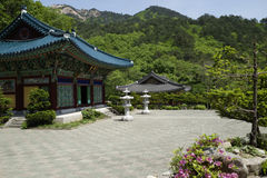 Buddhist Temple in Seoraksan National Park Stock Photos