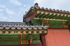 Buddhist temple in Seoul, South Korea - beautiful historic religious building with bright colors stock photo