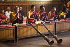 Buddhist Temple Service Royalty Free Stock Photography