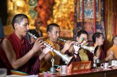 Buddhist Temple Service Stock Photo
