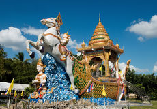 Buddhist Temple Shrine, Thailand Travel Stock Photo