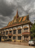 Buddhist temple in Siem Reap town Stock Photo