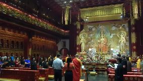 Buddhist temple in Singapore stock video footage