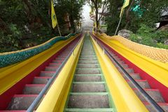 Buddhist temple stairs Royalty Free Stock Image