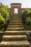 Buddhist temple stairs and gate Royalty Free Stock Photo