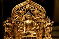 Buddhist Temple. Statue of Buddha Stock Image