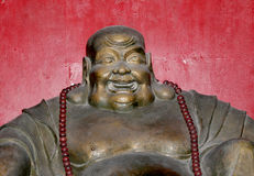 Buddhist Temple. Statue of Buddha-- Beijing, China Stock Image