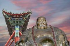 Buddhist Temple. Statue of Buddha-- Beijing, China Royalty Free Stock Image