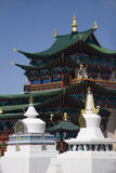 Buddhist temple and stupas. In East Siberia Stock Photos