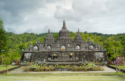 Buddhist temple with stupas in Bali, Indonesia Stock Photography