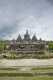 Buddhist temple with stupas in Bali, Indonesia Royalty Free Stock Images