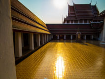 Buddhist temple at sunset Royalty Free Stock Photo
