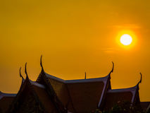 Buddhist temple at sunset Stock Images