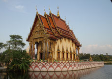 Buddhist temple at sunset. Temple in Koh Samui, Thailand Stock Image