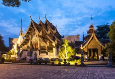 Buddhist temple at sunset Royalty Free Stock Photography