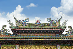 Buddhist Temple in Taiwan. Longshan Temple is one of the famous Buddhist temple in Taipei, Taiwan stock photos