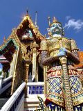 Buddhist temple, Thailand. Buddhist temple under a blue sky, Bangkok, Thailand Royalty Free Stock Image