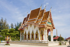 Buddhist temple in Thailand. Royalty Free Stock Photography