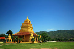 A Buddhist temple of Thailand Royalty Free Stock Photos
