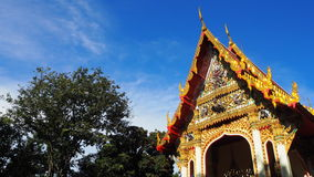 Buddhist ordination hall. Temple in thailand with sky and tree Royalty Free Stock Images