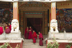 Buddhist in the temple Stock Images