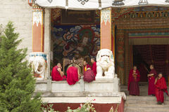 Buddhist in the temple Royalty Free Stock Photo