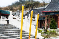 Buddhist temple at Tianmen Mountain Stock Photography