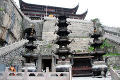 Buddhist temple Tiantai Stock Photography
