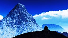 Buddhist temple in Tibet Stock Images