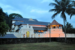 Buddhist Temple of the Tooth, Kandy, Sri Lanka. Famous Buddhist Pilgrimage Site, Temple of the Tooth, Kandy, Sri Lanka Royalty Free Stock Images