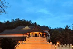 Buddhist Temple of the Tooth, Kandy, Sri Lanka Stock Images