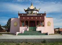 Buddhist temple in Ulan-Ude, Russia stock images