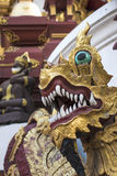 Buddhist temple under the protection of Naga. Royalty Free Stock Photos