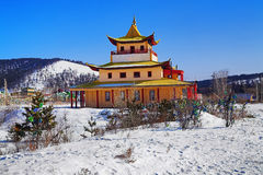 Buddhist temple in the Verhne-Beryozovsky Datsan Royalty Free Stock Photography