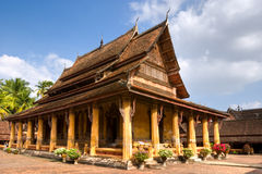 Buddhist temple in Vientiaine, Laos. Royalty Free Stock Photo