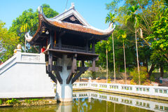 Buddhist temple in Vietnam in the capital of Vietnam in Hanoi Stock Photos