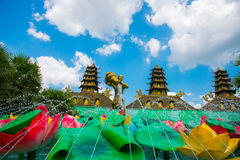 Buddhist temple in Vietnam in Ho Chi Minh City. Saigon. Royalty Free Stock Photos